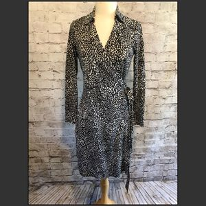 Diane Von Furstenberg Silk Knit Wrap Dress